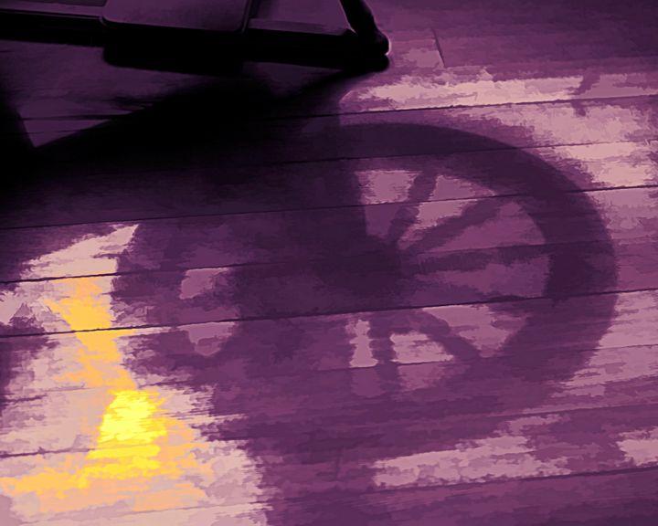 Spinning Wheel Shadow Abstract - Double Moon Art