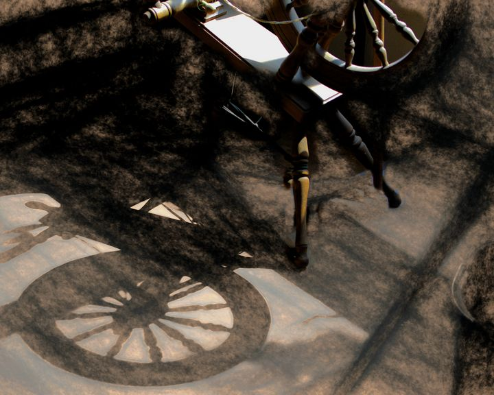 Spinning Wheel and Shadow - Double Moon Art