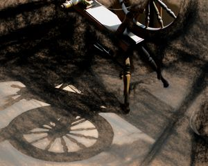 Spinning Wheel and Shadow