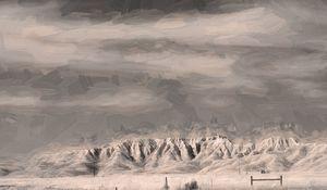 South Dakota Badlands Impasto - Double Moon Art