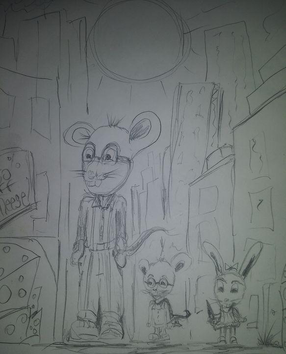 Hood bunnies - Tony Salinas works of art