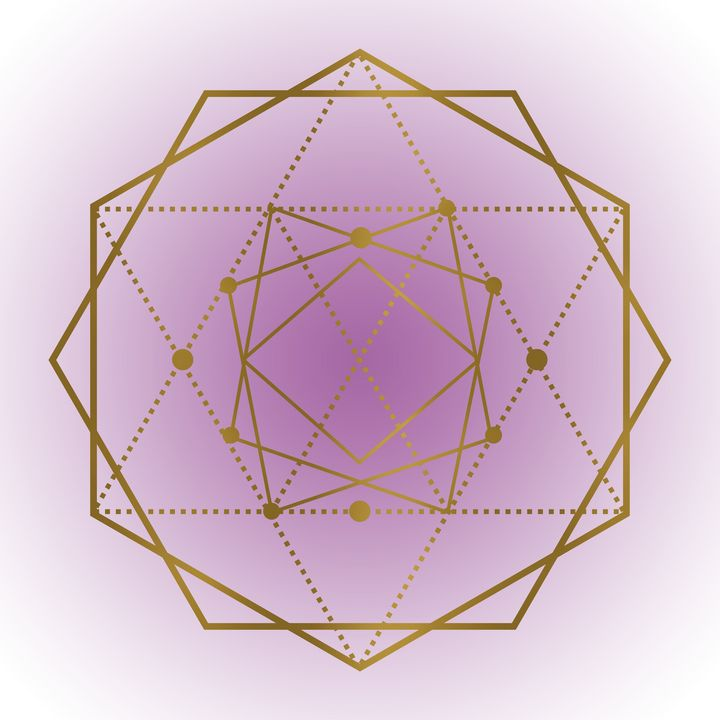 Sacred Geometry in Purple and Gold - Shannon MacFarlane Photography