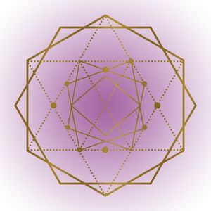 Sacred Geometry in Purple and Gold