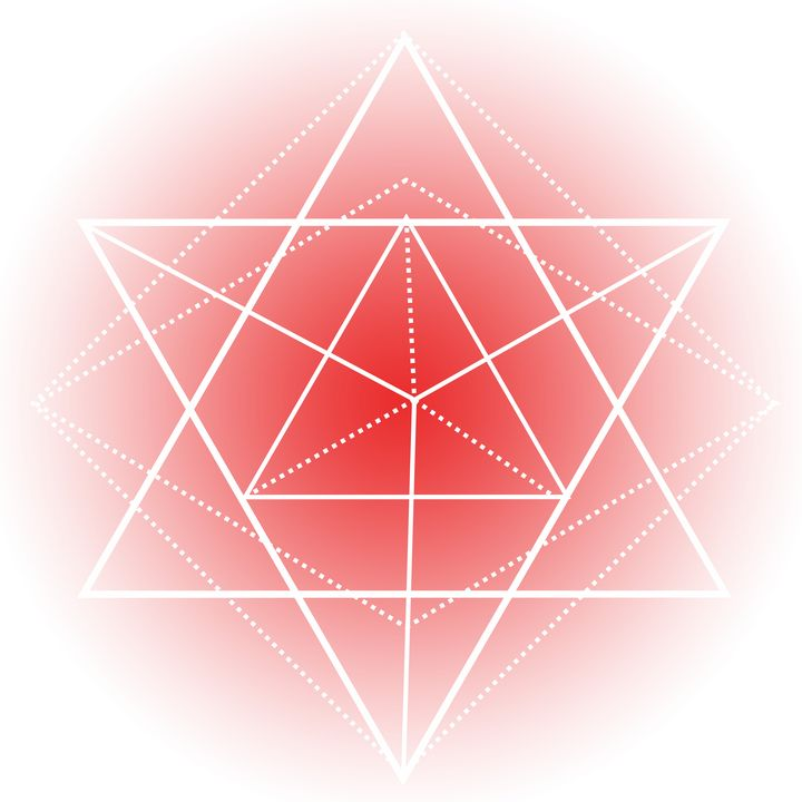 Sacred Geometry - Red Triangles - Shannon MacFarlane Photography