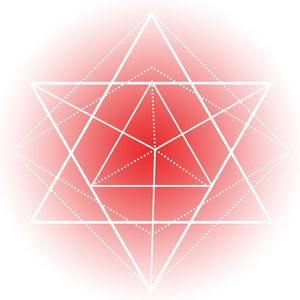 Sacred Geometry - Red Triangles