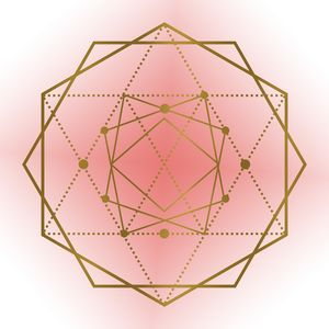 Sacred Geometry - Hexagon in Salmon