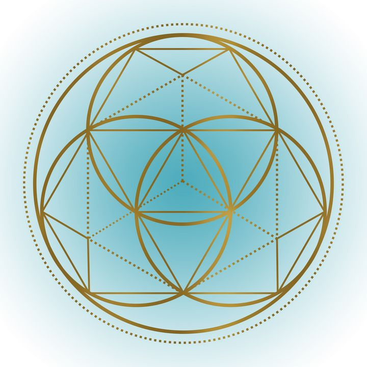 Sacred Geometry 3 (Teal) - Shannon MacFarlane Photography