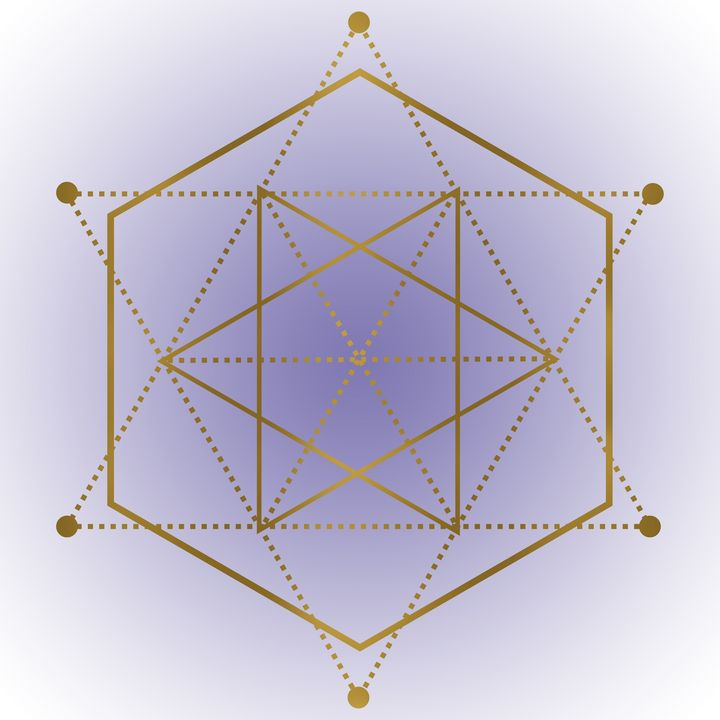 Sacred Geometry 12 - Purple and Gold - Shannon MacFarlane Photography