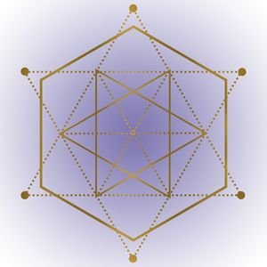 Sacred Geometry 12 - Purple and Gold