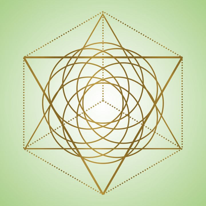 Sacred Geometry 6 - Green - Shannon MacFarlane Photography