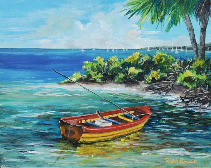 Colorful Pirogue - Ruth Bowen Professional Artist