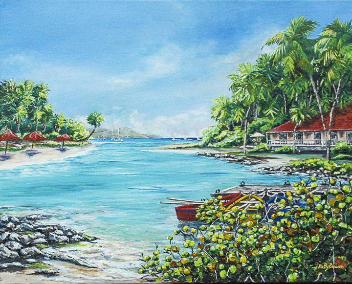 Little Bay in Paradise - Ruth Bowen Professional Artist