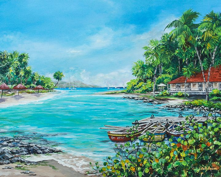 Little Bay in Paradise - Ruth Bowen Professional Artist