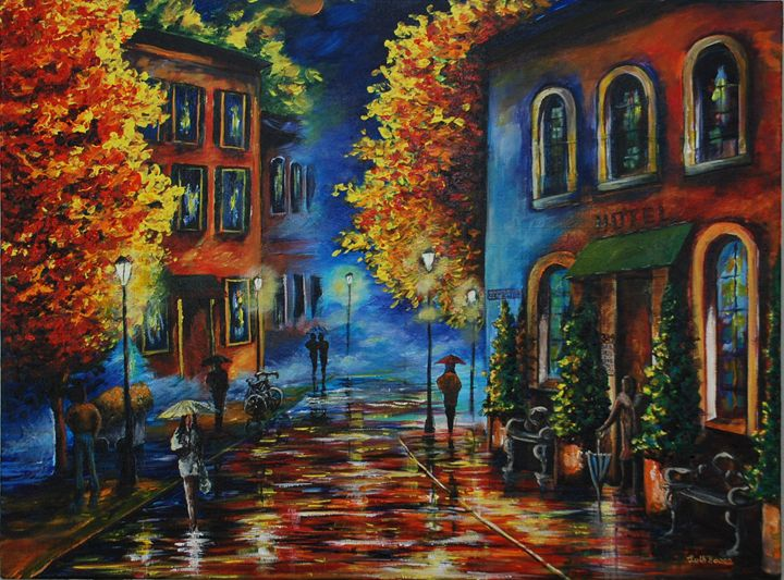 WET STREETS - Ruth Bowen Professional Artist
