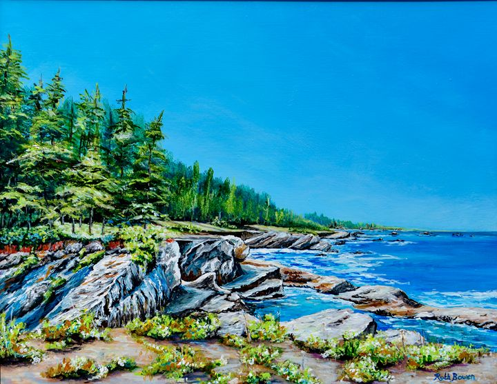 View of Simpson Bay Central  Oregon - Ruth Bowen Professional Artist