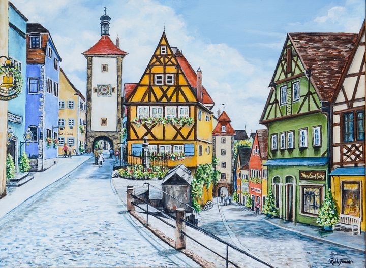 The Ponlein Rothenburg Germany - Ruth Bowen Professional Artist