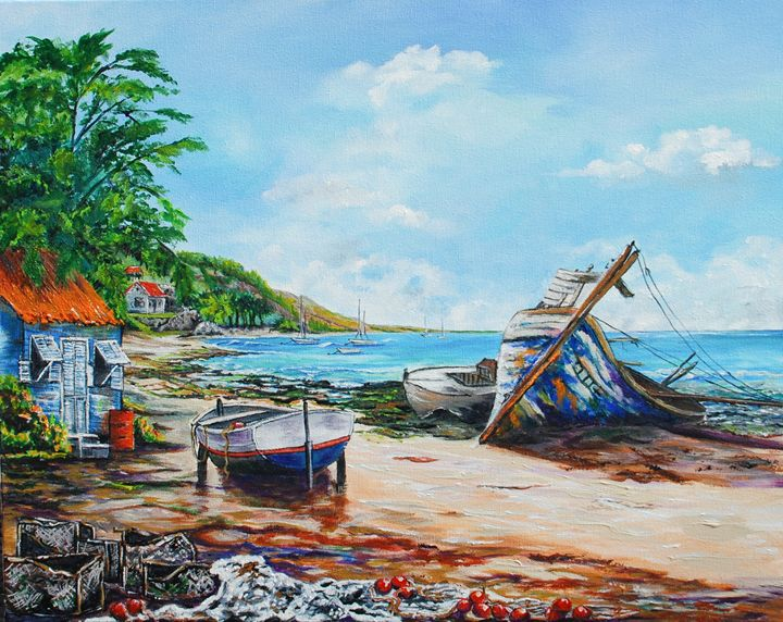 CRASH BOAT BEACH - Ruth Bowen Professional Artist