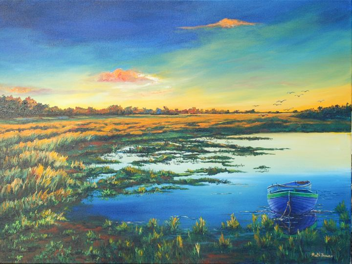 DAWN IN THE WETLANDS - Ruth Bowen Professional Artist