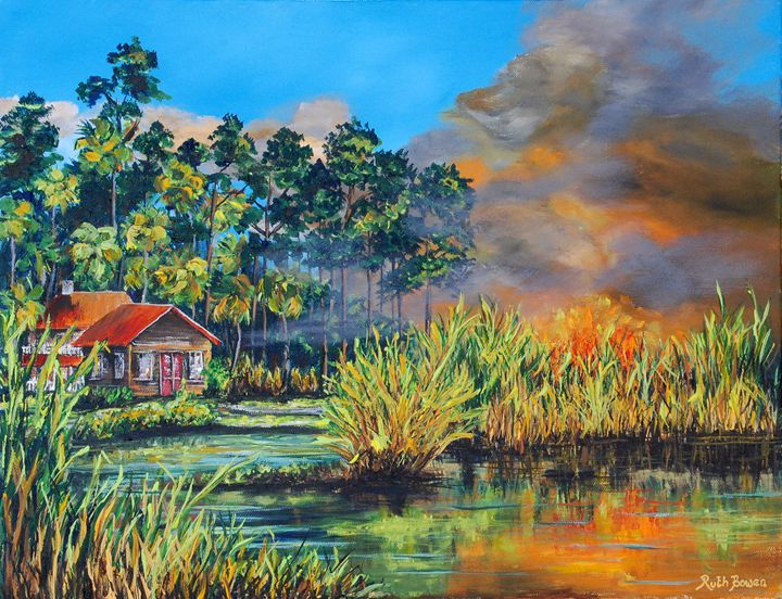 LOW COUNTRY FIRE - Ruth Bowen Professional Artist