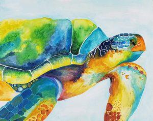 Boho Sea Turtle