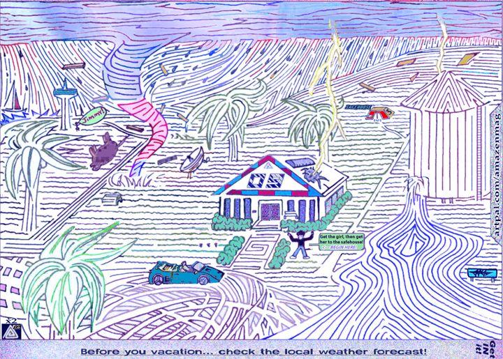 "Stormy Weather MAZE (COLD edit!) 60"" - AMAZENMAG MAZE PUZZLES"