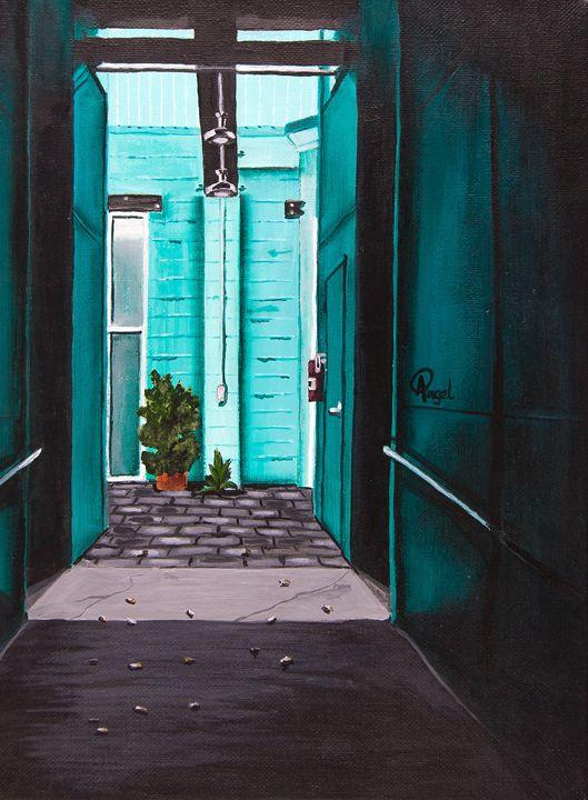 Teal Hallway - Angelo Pietrarca