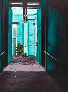 Teal Hallway