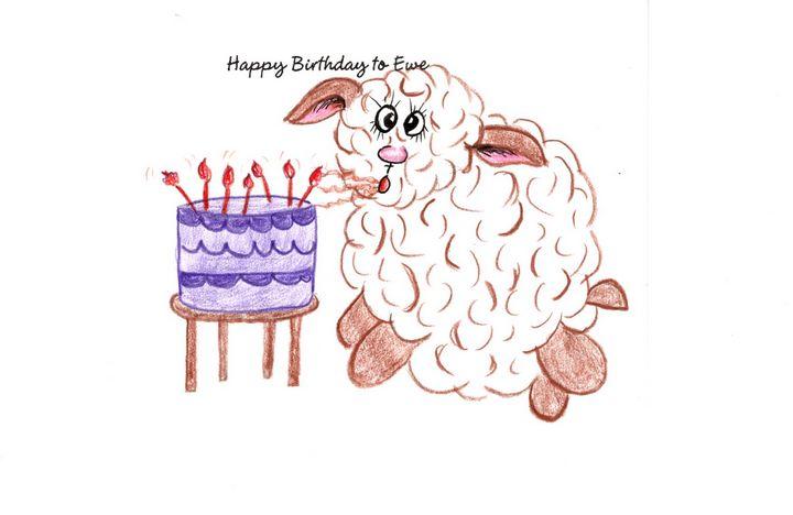 """Happy Birthday to Ewe"" - Sandi's Artistic Impressions"