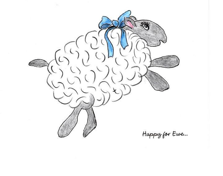 """Happy for Ewe"" - Sandi's Artistic Impressions"