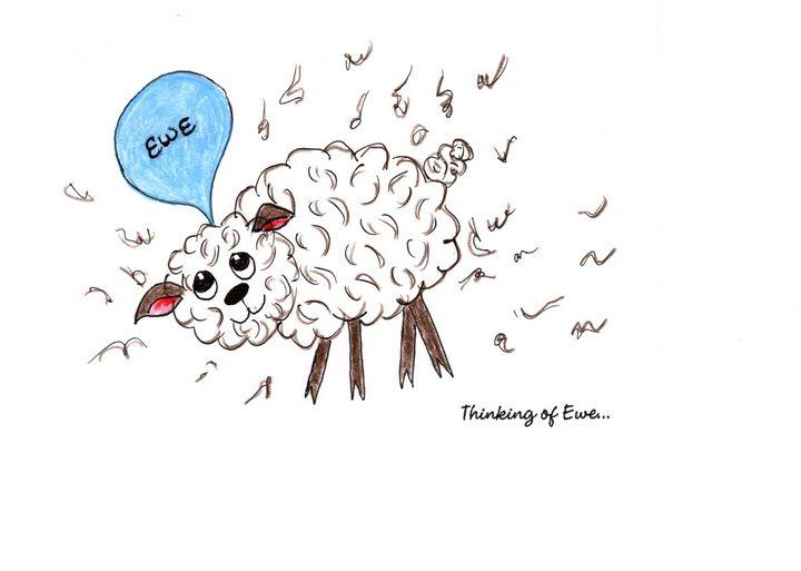 """Thinking of Ewe"" - Sandi's Artistic Impressions"