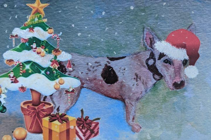 """Chester at Christmas"" - Sandi's Artistic Impressions"
