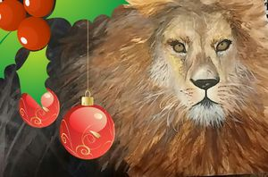 """Majesty Christmas Lion """