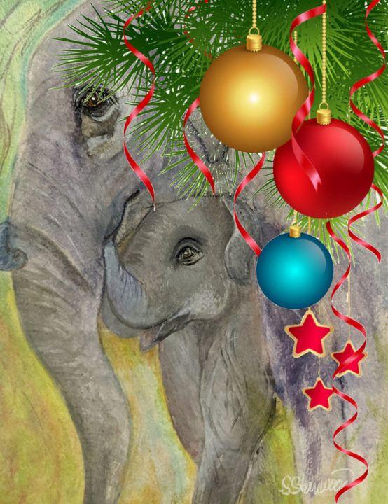 """Gentle Giant Christmas"" - Sandi's Artistic Impressions"