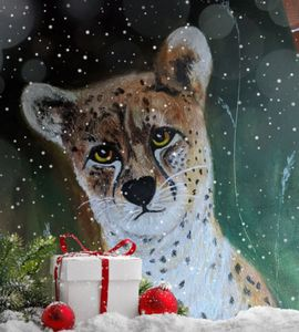 """Cheetah at Christmas"""