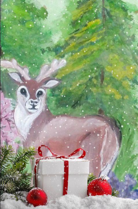 """Oh Deer! at Christmas"" - Sandi's Artistic Impressions"