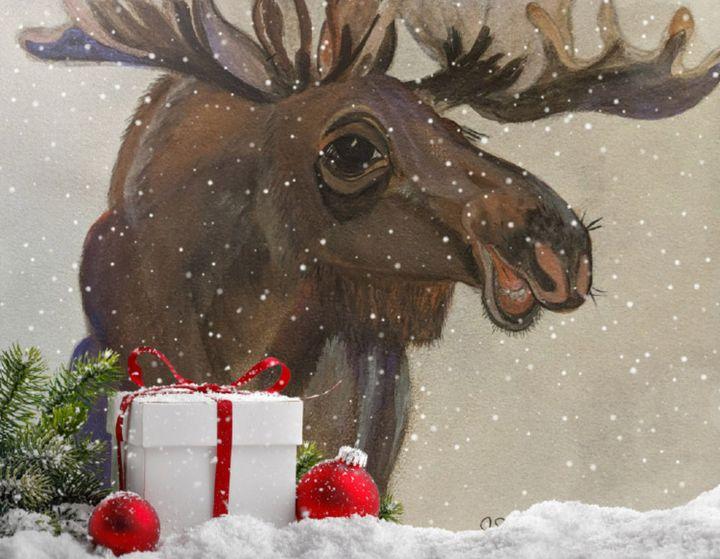"""Minnie the Moose Christmas"" - Sandi's Artistic Impressions"