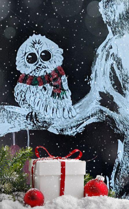 """""""Whoooo's Christmas?"""" - Sandi's Artistic Impressions"""