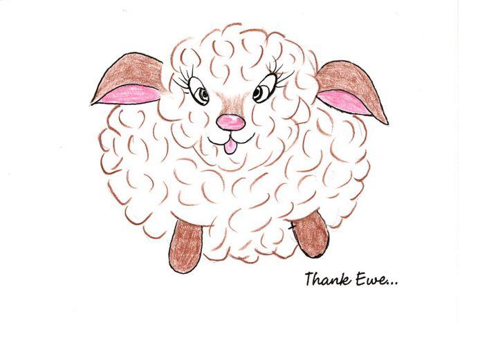 """Thank Ewe"" - Sandi's Artistic Impressions"