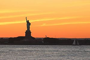 Lady Liberty and a Summer Sunset