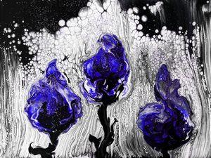 Cobalt Flowers