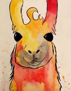 Orange Llama Splash