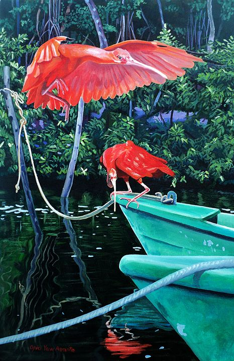 Scarlet Ibis, Prepare For Landing - Opio Yaw Asante