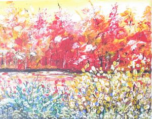 autumn, acrylic painting