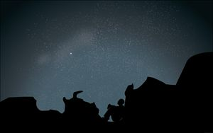Night sky Illustration - Ryan Sedeman