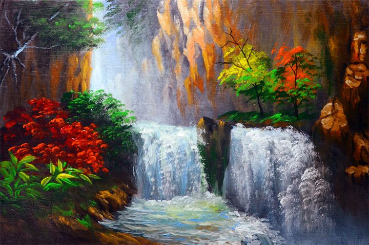 Water Falls - Artlife Unlimited Paintings