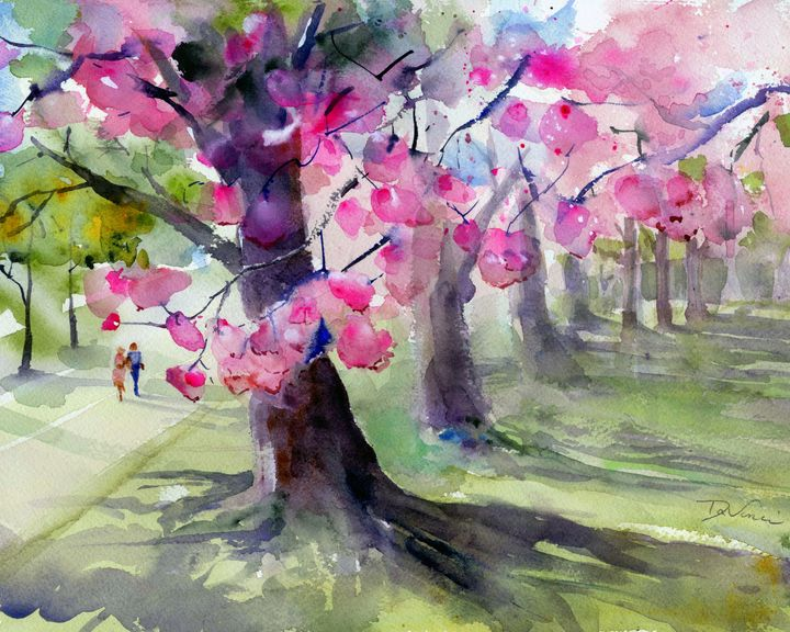 Spring is In the Air - Clem DaVinci Watercolors