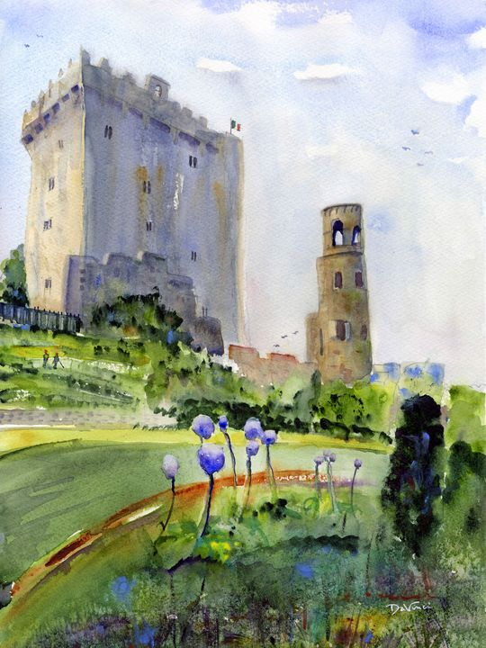 To The Blarney Stone - Clem DaVinci Watercolors