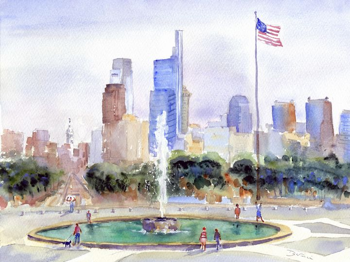 Philly Strong - Clem DaVinci Watercolors