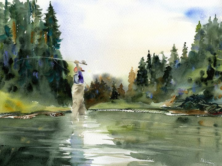 Backcast - Clem DaVinci Watercolors