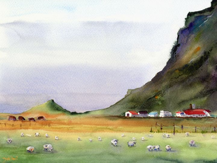 Majestic Iceland - Clem DaVinci Watercolors